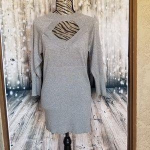 NWOT Torrid gray keyhole bodice sweater sz 1